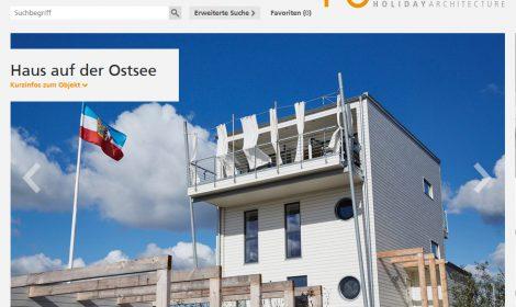 """Ferienhausportal: """"www.Urlaubsarchitektur.de"""""""