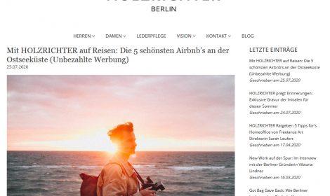 Blogbeitrag bei HOLZRICHTER Berlin